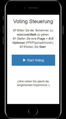 VOXR Dash Steuerung