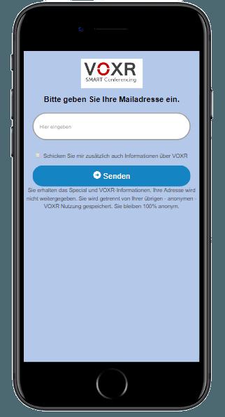 VOXR email collector