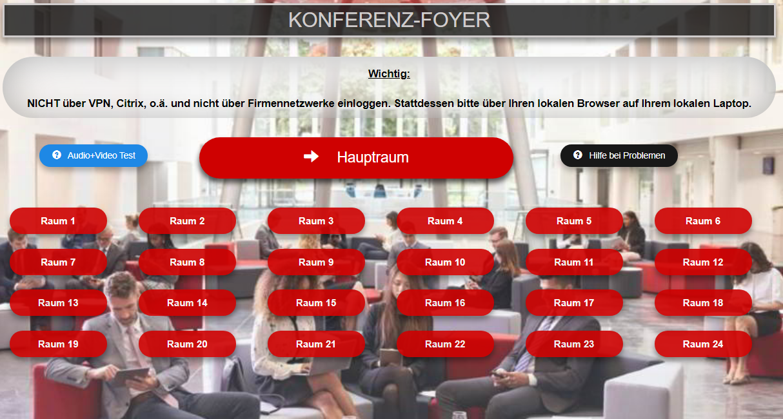 Online-Event-Plattform Foyer